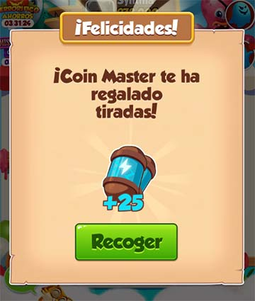 11/12/2020 Enlace 3º Coin Master 25 spin