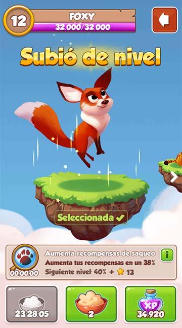 la mascota Foxy