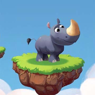 Mascota Rhino protege tu aldea